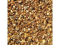Golden gravel in 1 ton bulk bags delivery