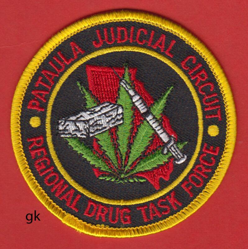"PATAULA  GEORGIA DRUG TASK FORCE MARIJUANA SHOULDER PATCH  (3"")"