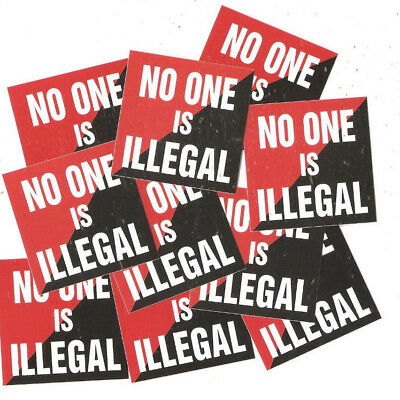 50 No One is illegal Aufkleber stickers Punk Antinazi AFA Gegen Nazis Antifa 161