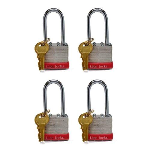 Lion Locks 5PLS Keyed-Alike Padlock, 1-9/16-inch Wide 2-inch Shackle, 4-Pack