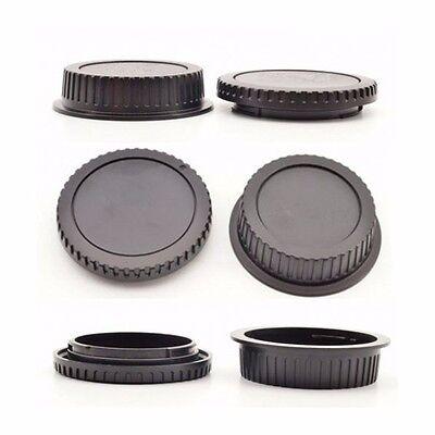 Fashion Camera Body Cover Case + Back Lens Rear Cap For Canon EOS DSLR SLR CA