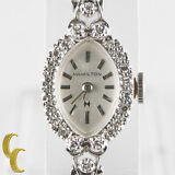 Hamilton Women's Vintage 14k White Gold and Diamond Hand-Winding Watch
