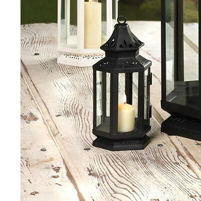 5 black colonial stagecoach country western Lantern Candle holder wedding table