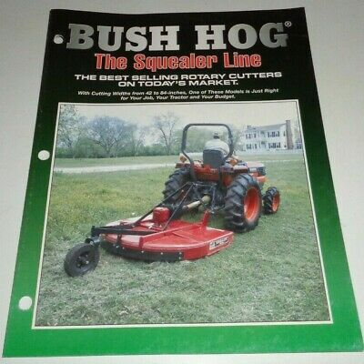Bush Hog Sq420 Sq480 Sq600 Sq720 Sq840 Squealer Mower Cutter Sales Brochure