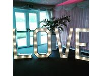 ♡♥ 4ft light up LOVE LETTER hire only £70 , Fully stocked CANDY CART hire only £150 ♡♥