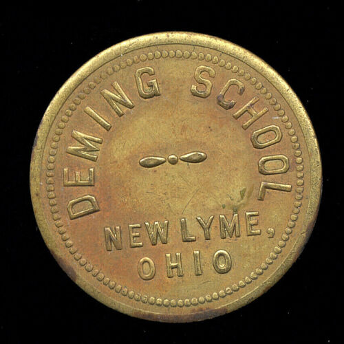 New Lyme, OH  Ohio  ... Deming School  ...  Good For 1 School Lunch (SL-95-101)