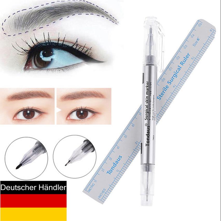 2 Pcs. Wasserfest Surgical Pen Vorzeichenstift PMU Microblading Marker Pen