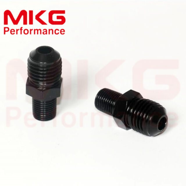 Aluminum Straight Reducer Fuel fittings Adaptor Male AN8 To 1/8 NPT Thread 2pcs