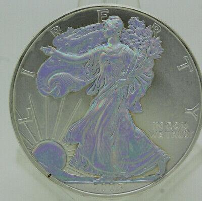 2005 HOLOGRAM AMERICAN EAGLE SILVER BULLION COIN