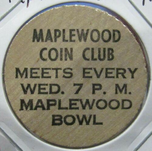 Vintage Maplewood, MN Coin Club Wooden Nickel - Token Minnesota Minn.