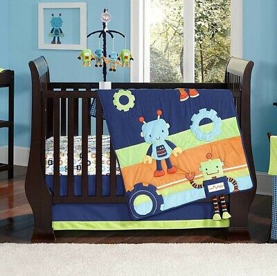 Baby Bots 4 Piece Baby Crib Bedding Set by Nojo