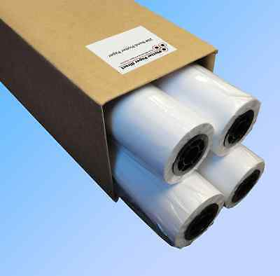 4 Rolls 24 X 150 20lb Bond Plotter Paper For Wide Format Inkjet Printers