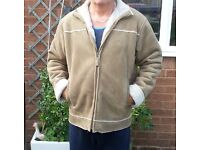 MENS SHEEPSKIN LINED. SUEDE COAT from BHS