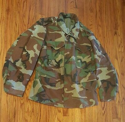 USGI M-65 Field Jacket Medium Short Woodland Camo Camouflage BDU US Military