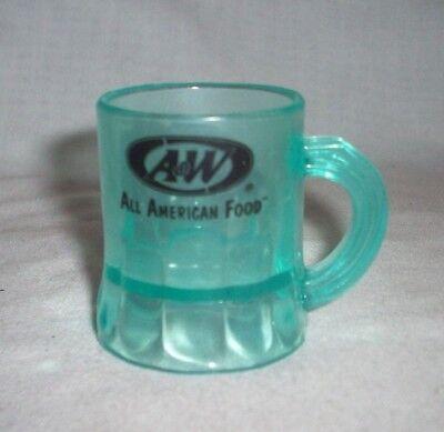 Mini Plastic Beer Mugs (A & W ROOT BEER GREEN PLASTIC MINI MUG - SHOT)