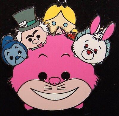 Disney Alice Wonderland Tsum Tsum Slider Pin Cheshire Mad Hatter White Rabbit