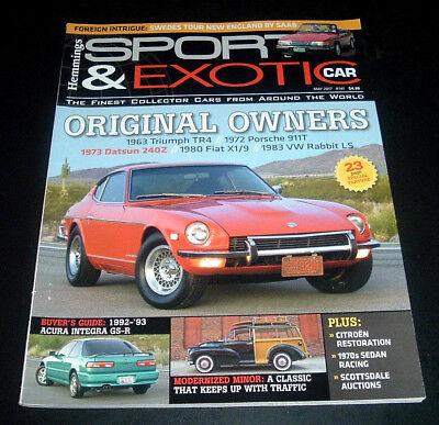 Hemmings Sport   Exotic Car Magazine   May 2017  1983 Vw Rabbit Ls  1972 Porsche