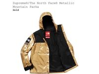 Supreme Northface TNF Jacket - Gold Small DS