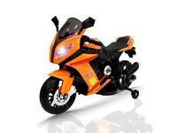12 volt twin speed BMW style motorcycle (new)