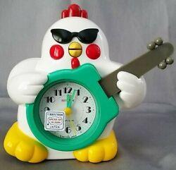 Rhythm Rock N Roll Chicken Quartz Novelty Alarm Clock RARE VINTAGE NEW in BOX