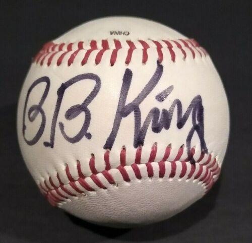 B.B. KING SIGNED BASEBALL JAZZ autograph Legend BB JSA COA letter