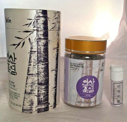 NEW Insan Natural Bamboo Salt Purple 9X Crystalized 240g -- Ships fast from USA