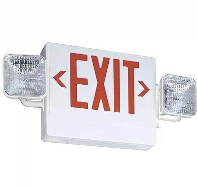 Lithonia Lighting Led Emergency Light Exitunit Combo Red Ecr Led M6