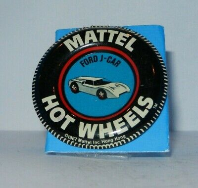 Hot Wheels Redline Collectors pin / badge**  FORD J CAR  ** Mattel