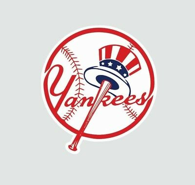 New York Yankees MLB Baseball Full Color Logo Sports Decal Sticker-Free Shipping - Baseball Stickers