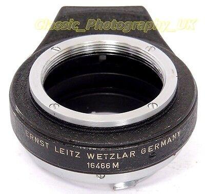 LEITZ 16466M OUBIO Adapter Converts Visoflex LTM Lenses to Visoflex II III Mount