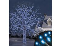 100 Electric Blue Connectable Frosted LED Lights MV Outdoor