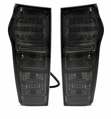 1 PAIR LED TAIL LIGHT REAR BLACK SMOKE DARK LENS FOR ISUZU DMAX D-MAX 12 13 14
