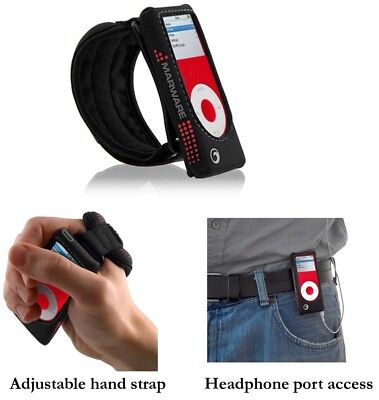 Red Marware Hand Case for Apple iPod Nano 2nd Gen 2G Sportsuit -