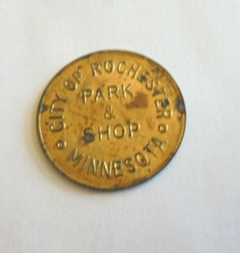 Cool Vintage City of Rochester MN Park & Shop Free Downtown Parking Token Coin