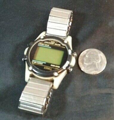 Vintage TIMEX Men's Watch 745 Chronograph Timer Alarm Watch Stretch Band Digital