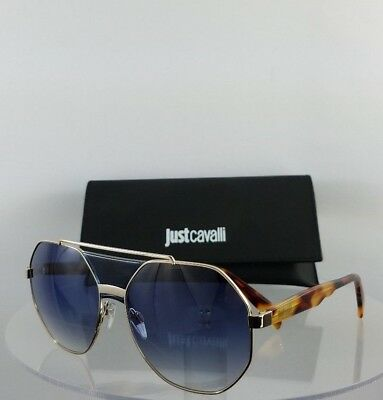 Brand New Authentic Just Cavalli Sunglasses JC828S 90W Tortoise Gold Frame 828