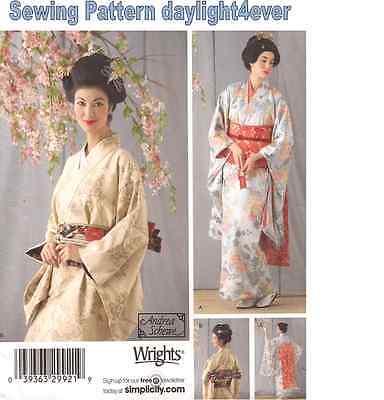 Women Kimono Geisha Robe Sash Obi Costume  Sewing  Pattern 4080 New Size 6-12 #r