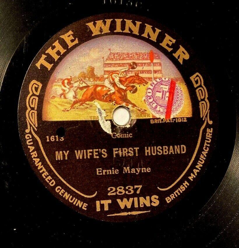 British Music Hall 78rpm - Ernie Mayne - Comic Songs On Winner Label E  - $19.99