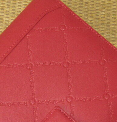 Compact Franklin Covey New Signature Red Leather 1 Rings Plannerbinder