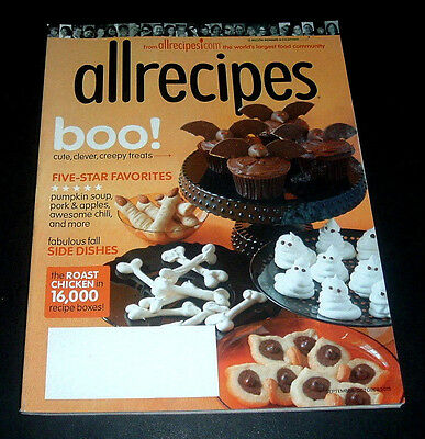 ALLRECIPES MAGAZINE SEPT/OCT 2015 ~HALLOWEEN TREATS BATS GHOSTS + PUMPKIN SOUP+