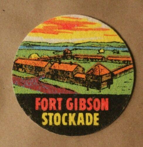 Fort Gibson Stockade Vintage Oklahoma OK Souvenir Printed Felt Patch Badge