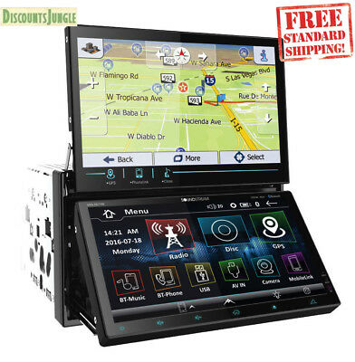 "SOUNDSTREAM VRN-DD7HB 2DIN 7"" DUAL DISPLAY CAR GPS DVD MP3 CD RECEIVER BLUETOOTH"