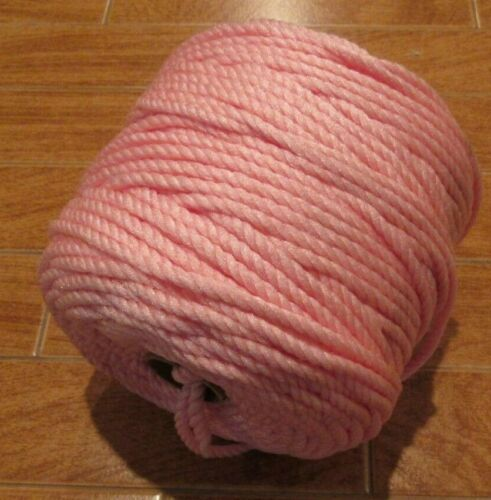 Pink Braided Polypropylene Cord Macrame 8mm 100 Yds
