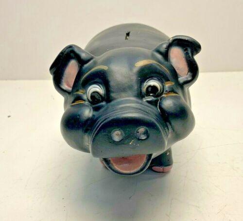 Vintage Rare Black A.N. Brooks Chalkware Piggy Bank #444 Black