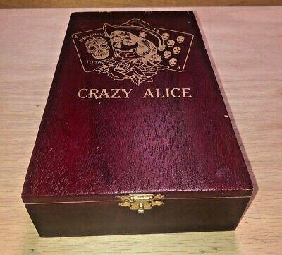 Crazy Alice (Wood Cigar Box Drew Estate Crazy Alice 5 x 6.5 x 2.25 Craft Jewelry Clasp)