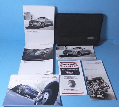 14 2014 Audi TT/TTS Roadster owners manual with Navigation