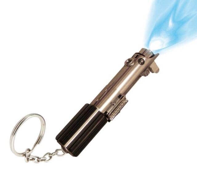 Star Wars Luke Skywalker Lightsaber Keychain Torch Small LED Light Key Ring