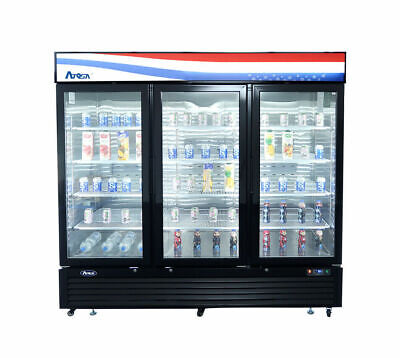 Atosa 3 Three Door Glass Soda Display Cooler Refrigerator Mcf8724g Free Liftgate