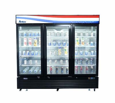Atosa 3 Three Door Glass Soda Display Cooler Refrigerator Mcf8724g Free Liftgate