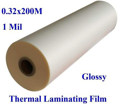 1 Roll Glossy Thermal Laminating Film 12.5 In X 656 Ft Uv Luster Hot Films